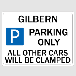 GILBERN Parking Sign