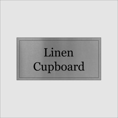 Linen Cupboard Sign