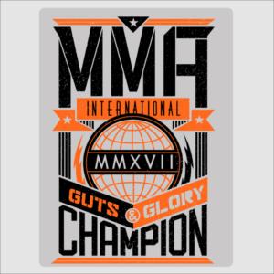 MMA Champion Sign
