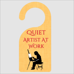 Quiet Artist At Work Door Hanger