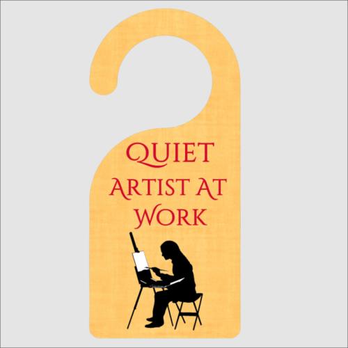 Quiet Artist At Work Door Hanger