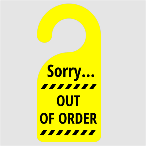 Sorry Out Of Order