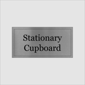 Stationary Cupboard Sign