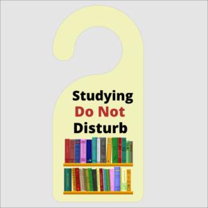 Studying Do Not Disturb Door Hanger