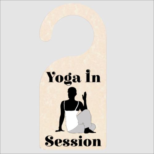 Yoga In Session Door Hanger