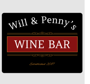 Personalised Wine Bar Wall Plaque