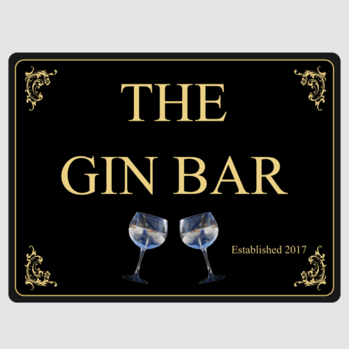 The Gin Bar Wall Plaque