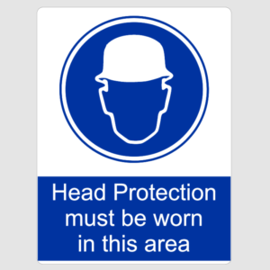 Head Protection Must Be Worn