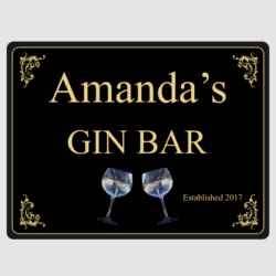 Personalised Gin Bar Wall Plaque
