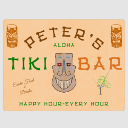 Personalised Tiki Bar Wall Plaque