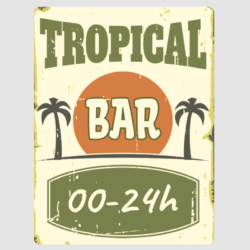 Tropical Bar Wall Plaque