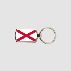 Northern Ireland Flag Key Ring Chrome Metal Keyring