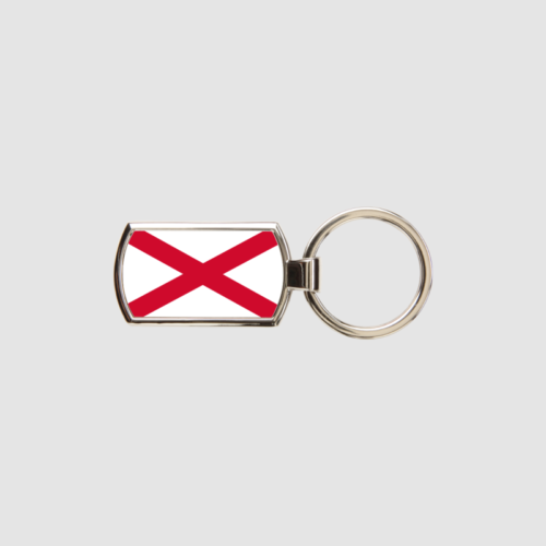 Northern Ireland Flag Key Ring Chrome Metal Keyring