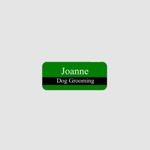 Personalised Dog Grooming Name Badge