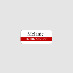 Personalised Health Advisor Name Badge