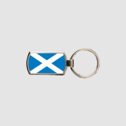 Scotland Flag Key Ring Chrome Metal Keyring