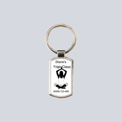 Personalised Yoga Key Ring
