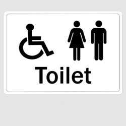 Disabled Ladies And Gents Toilet Sign