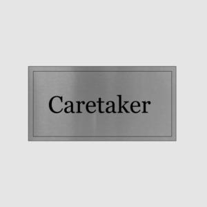 Caretaker Office Sign