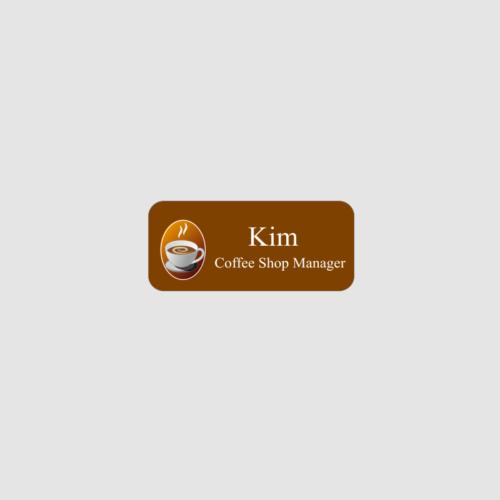 Personalised Coffee Shop Name Badge