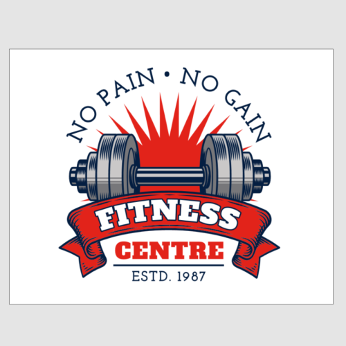 No Pain No Gain Fitness Centre Sign