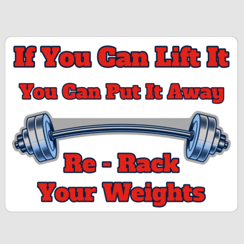 re rack weights sign
