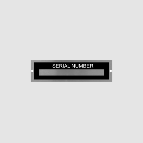 Serial Number Identification Plate