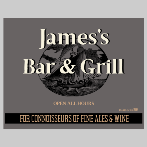 Personalised Bar and Grill Signs