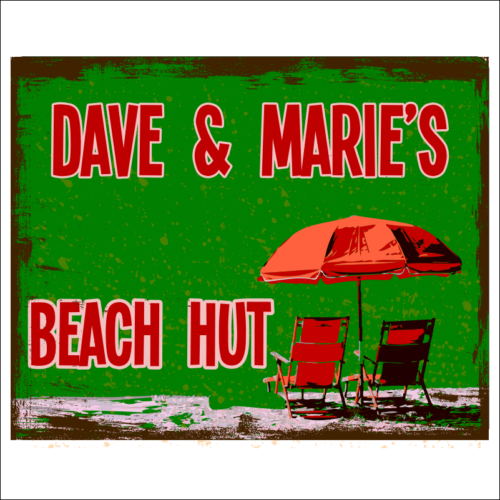 Personalised Beach Hut Sign