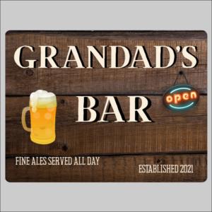 Grandads Bar Sign