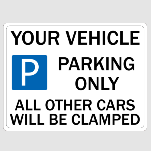 Custom Parking Sign