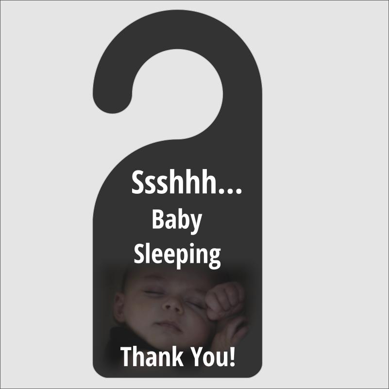 ssshhh baby sleeping door hanger