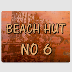 Beach Hut Number Sign