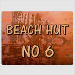 Beach Hut Number Sign