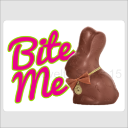 Bite Me Chocolate Bunny Wall Plaque