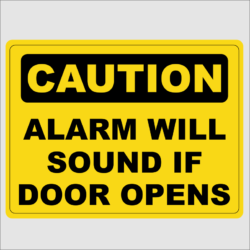 Caution Alarm Sounds If Door Is Opened