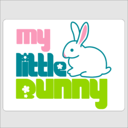My Little Bunny Wall Plaque
