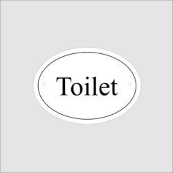 Toilet Door Sign