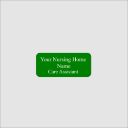 Personalised Nursing Home Name Badge