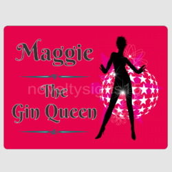 Gin Queen Bar Wall Plaque