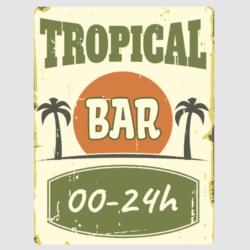Tropical Bar Wall Plaque