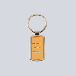 Beach Hut Key Ring