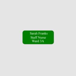 Personalised Nurse Name Badges
